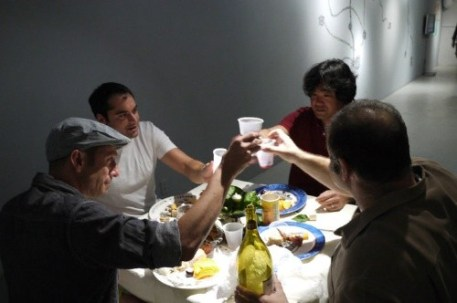 In this photo: Patrick Shironoshita, Xavier Cortada, Mauricio Giammattei, Michael Laas