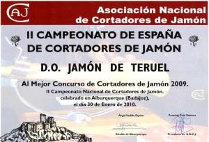 Teruel aspira a conseguir el mejor concurso de cortadores de jamón 2011 por tercer año