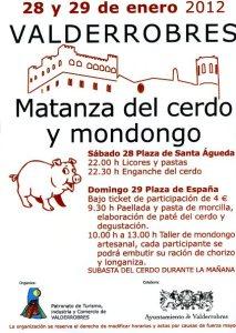 Matanza del cerdo y Mondongo en Valderrobres (Teruel)