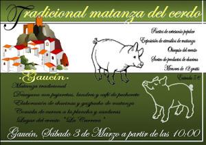 Tradicional matanza del cerdo de Guacín