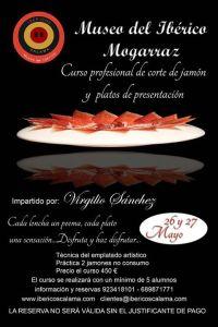 Curso profesional de corte de jamón y emplatado artístico por Virgilio Sanchez