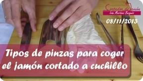 Distintos tipos de pinzas para coger el jamón