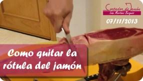 Como quitarla rótula del jamón