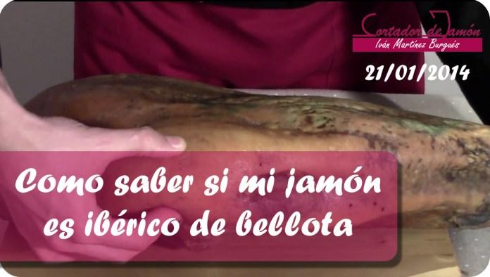 Como identificar un jamón de bellota ibérico