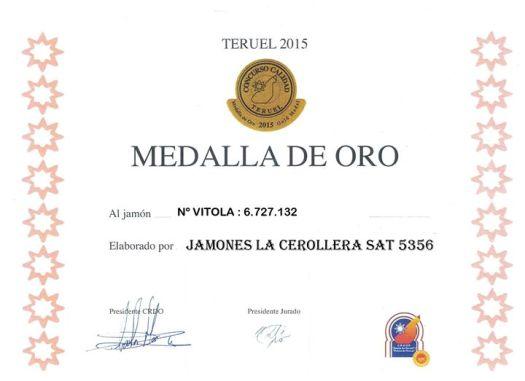 Jamones La Cerollera, ganador del concurso de Calidad Jamón de Teruel 2015