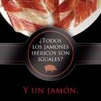 Imagen del cartel de la campaña: un plato de Jamón Ibérico