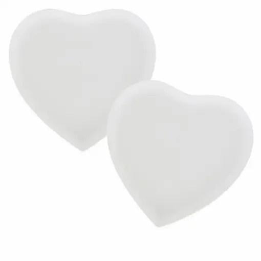 Plato forma corazón