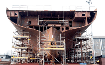 Ship with corrosion