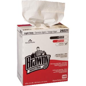 Brawny Industrial Light Duty Paper Wipers