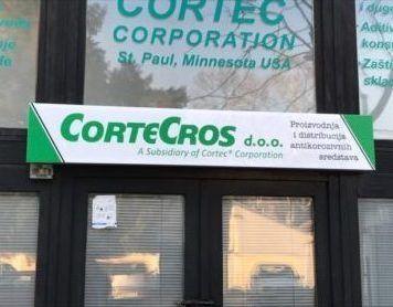CorteCros facade with sign and entrance