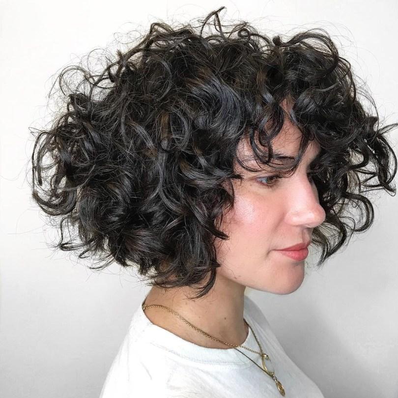 Cortes de cabelo cacheado long bob