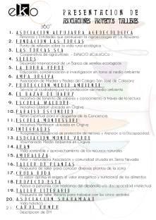 Asociaciones I encuentro de Experiencias EKO - Alpujarra Agroecológica 2016