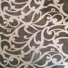 Telas para visillos con dibujos calados transparentes y blancas 4