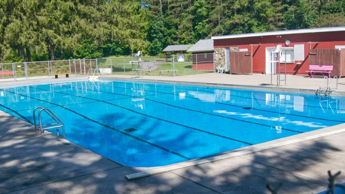 The pool at Memorial Park on Sykes Street is seen Monday in Groton on Monday. A $140,000 state grant will fund improvements.