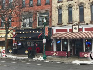 Harry Tony's, Dark Horse Tavern, and A Pizza and more storefronts