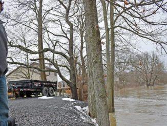Tioughnioga River flood in Cortland