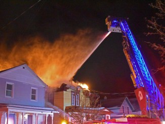 Cortland building on fire