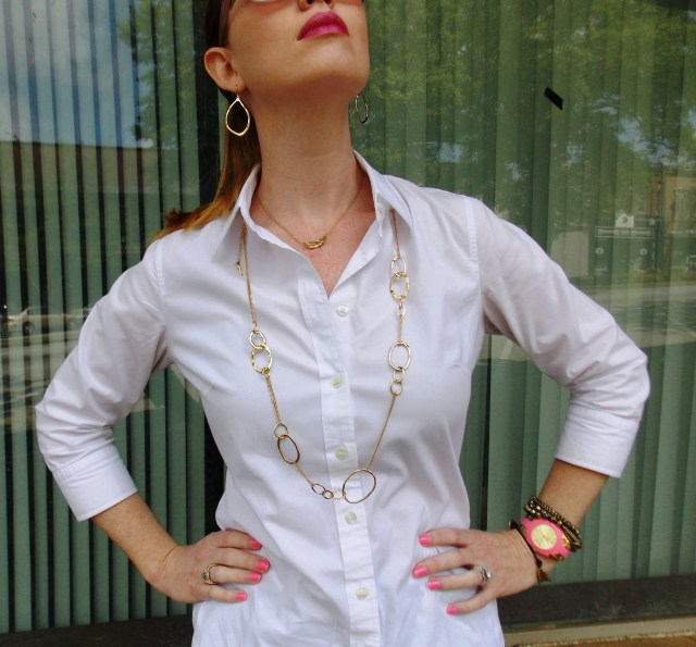 Shirt: JCREW Pants: Mossimo Shoes: Madden Girl Watch: Kate Spade Jewelry: Chloe+Isabel Sunglasses: UnionBay