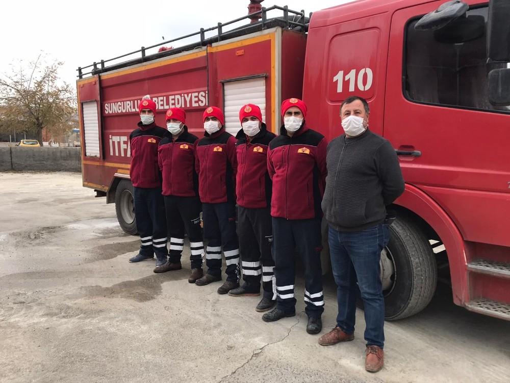 İtfaiye personeline kışlık elbise