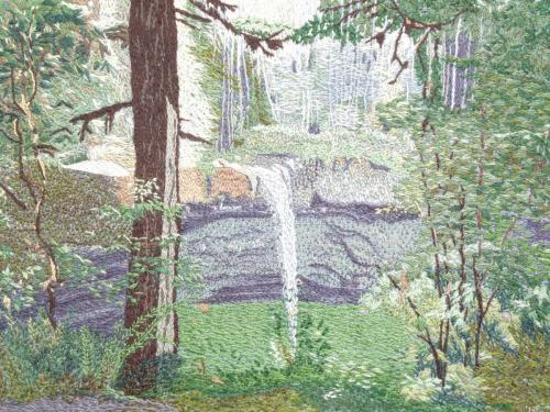 Peggy Sharrow - Fiber, Watercolor, Colored Pencil