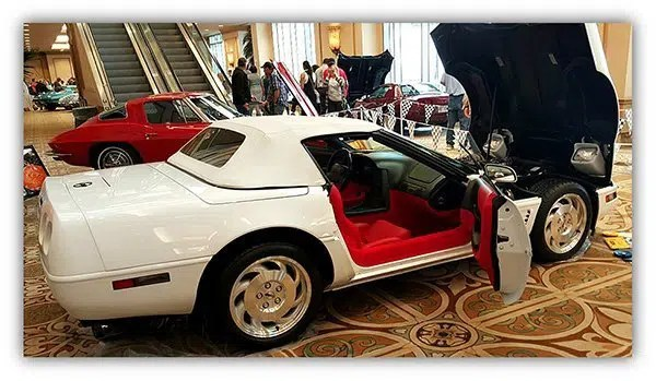 Ed's 1995 Corvette was one of the featured Corvettes in the lobby at the Corvette Chevy Expo in Galveston, Texas.