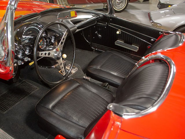 1962 Red Corvette interior