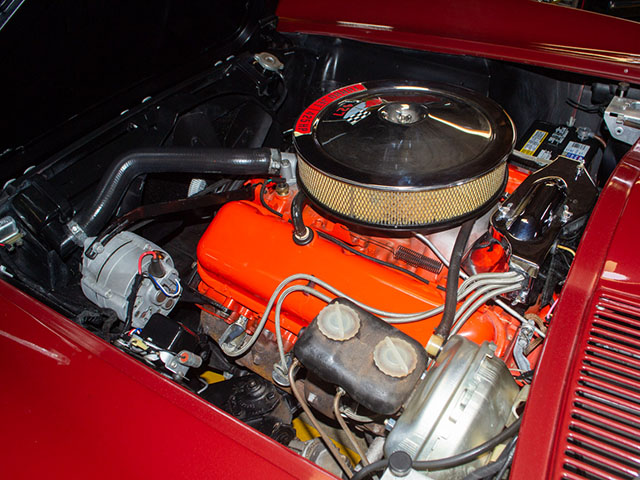 1966 Maroon Corvette L72 Coupe Engine