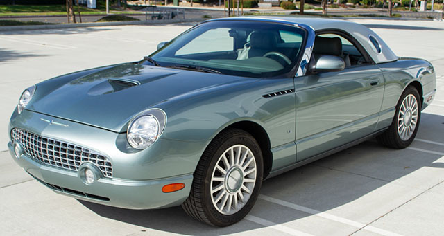 2004 green ford thunderbird pacific coast edition exterior