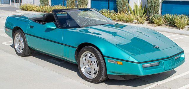 1990 turquoise corvette convertible exterior