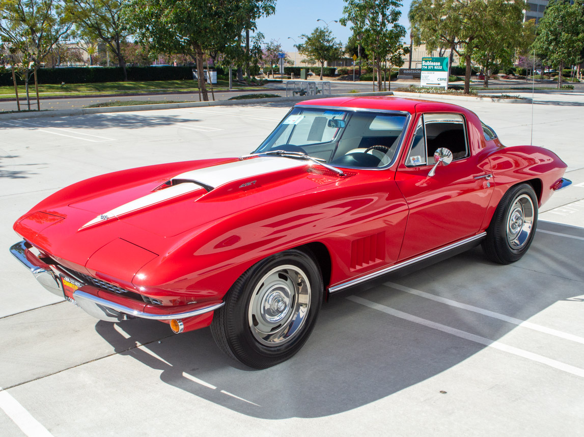 1967 rally red corvette l71 427 435 coupe 0674
