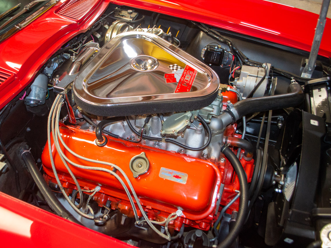 1967 rally red corvette l71 427 435 coupe 0702