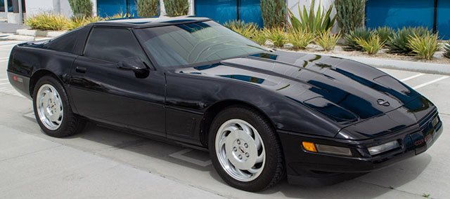 1995 black corvette coupe exterior