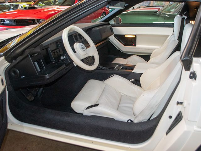 1988 white corvette 35th anniversary coupe interior