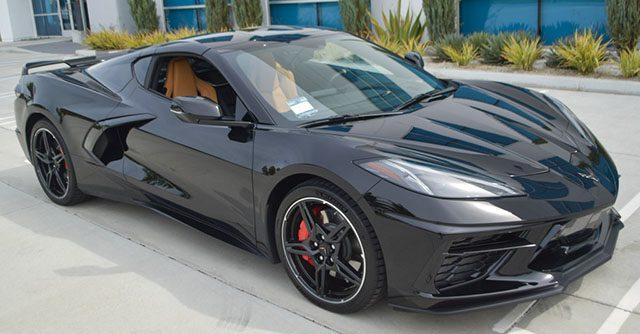 2020 black c8 corvette exterior