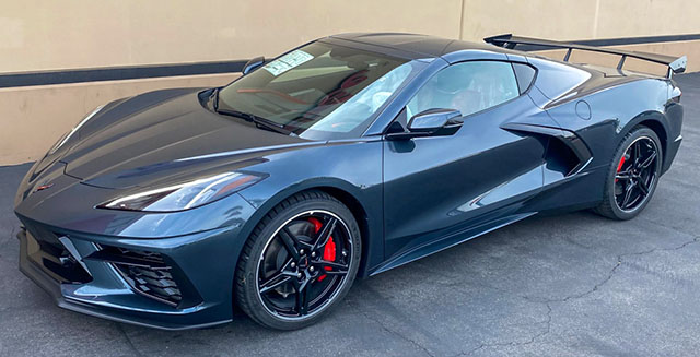 2020 shadow gray corvette c8 coupe exterior
