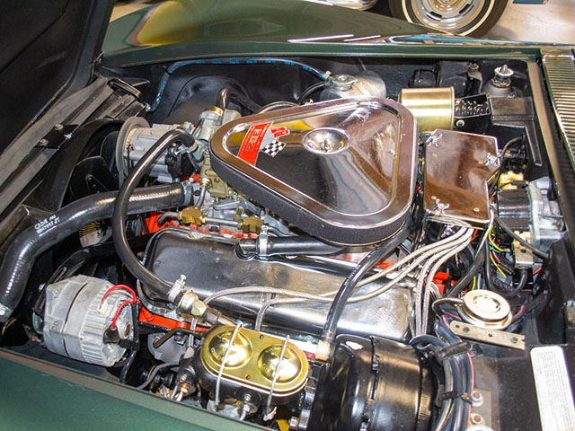 1969 green corvette l71 coupe engine