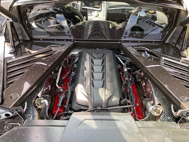 2020 C8 Corvette Black Black Engine