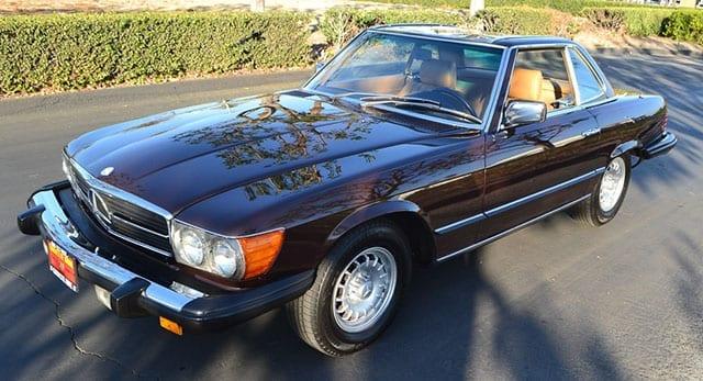 1980 brown mercedes benz 450sl coming 1