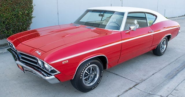 1969 red chevelle coupe bat 1