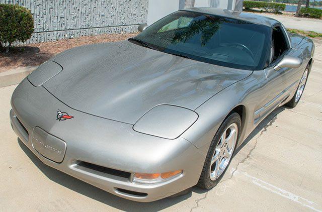 2002 pewter corvette coupe exterior 1