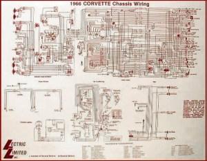 1966 Corvette Diagram, electrical wiring: CorvetteParts