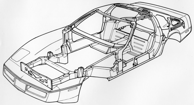 c4 corvette frame drawing