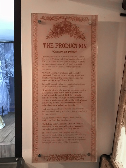 An interpretation panel for the costume display at Smallhythe Place designed by Corvidae Ltd, based on the original theatre programme.
