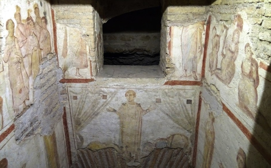Frescoes from the confessio.