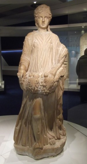 Statue from Carthage symbolising Abundance. Carthage was one of Rome's bread baskets. 3rd century, Musée national de Carthage.