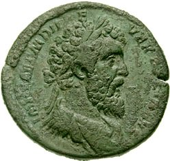 A sesterce coin bearing the image of Didius Julianus (Classical Numismatic Group, Inc. http://www.cngcoins.com)