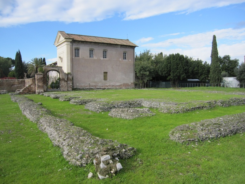 Ruins of the temple of Elagabal on the Palatine Hill.
