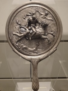 A mirror bearing the images of Phrixos and Helle, after whom the Hellespont ('Sea of Helle') was named (Museo Nazionale Romano, Rome).