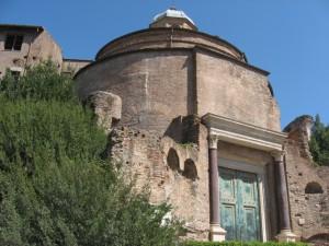 The Temple of Romulus on the Forum Romanum.