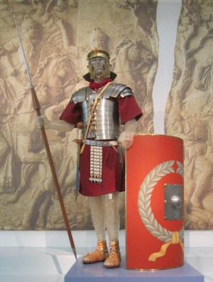 A roman legionary from the 1st or 2nd century (Museum Het Valkhof, Nijmegen).